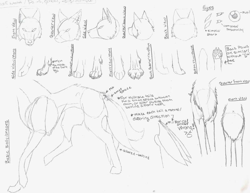 Рисовать волков туториалы