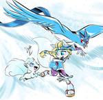 Glacia and her Pokemon