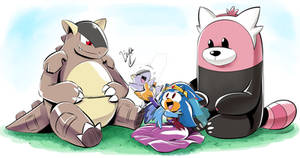 Athena and her Pokemon (Mother's Day 2020)