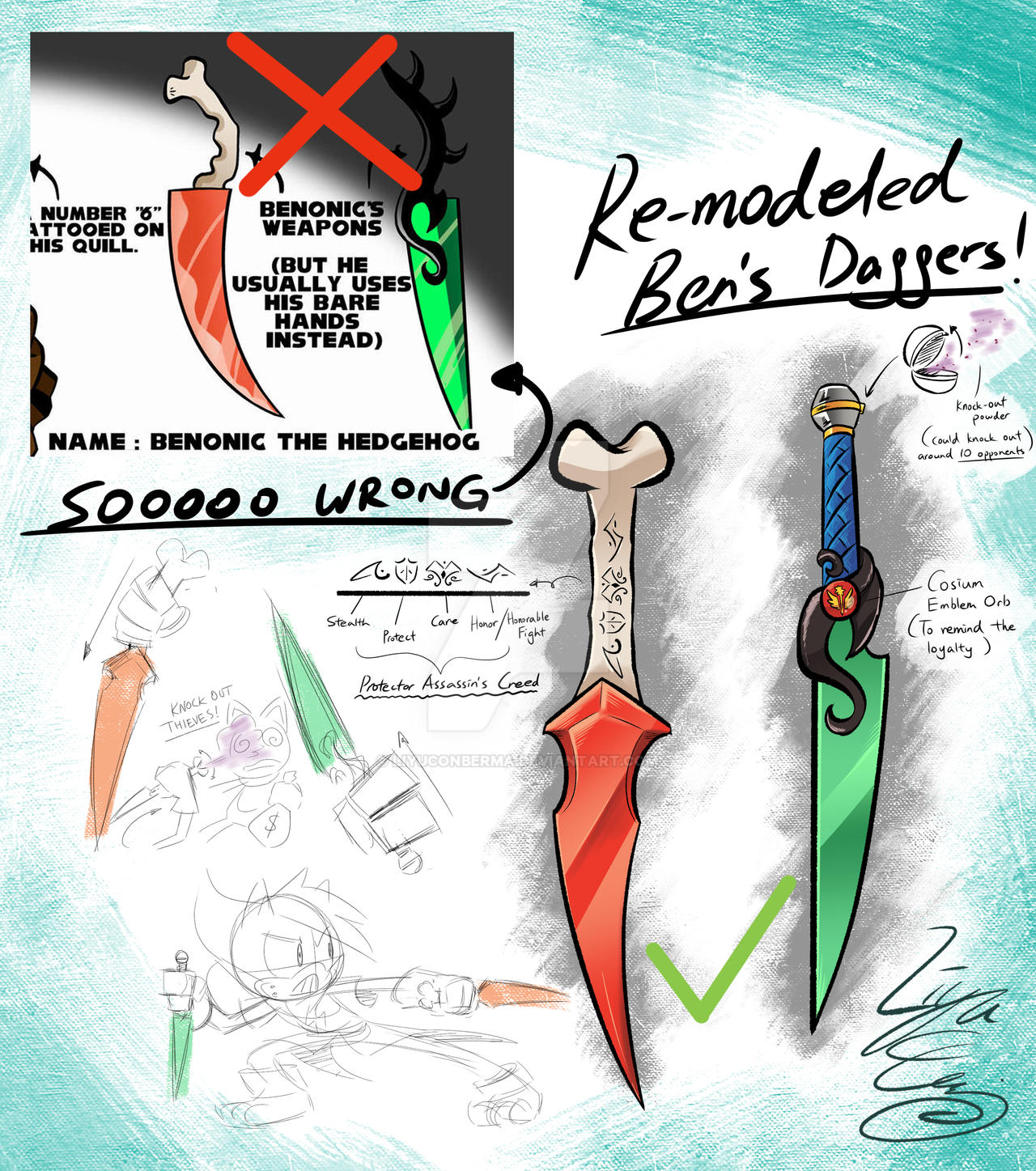Benonic's REMODELED Daggers