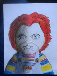 My first chucky drawing by kraidzilla