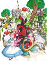 HP - deatheaters in Wonderland by LevyRasputin
