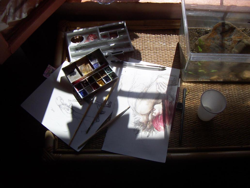 my art desk-top by LevyRasputin