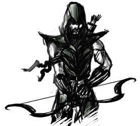 Green Arrow Sketch by The-fishy-one