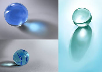 Material Study #1 - Glass marbles by The-fishy-one