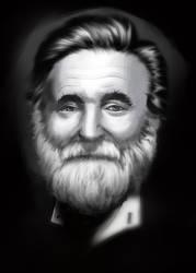 Robin Williams portrait study by The-fishy-one