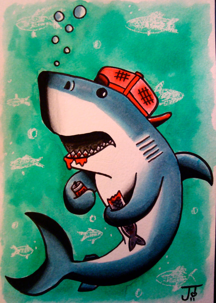 Sharky by Jlynntaylorart