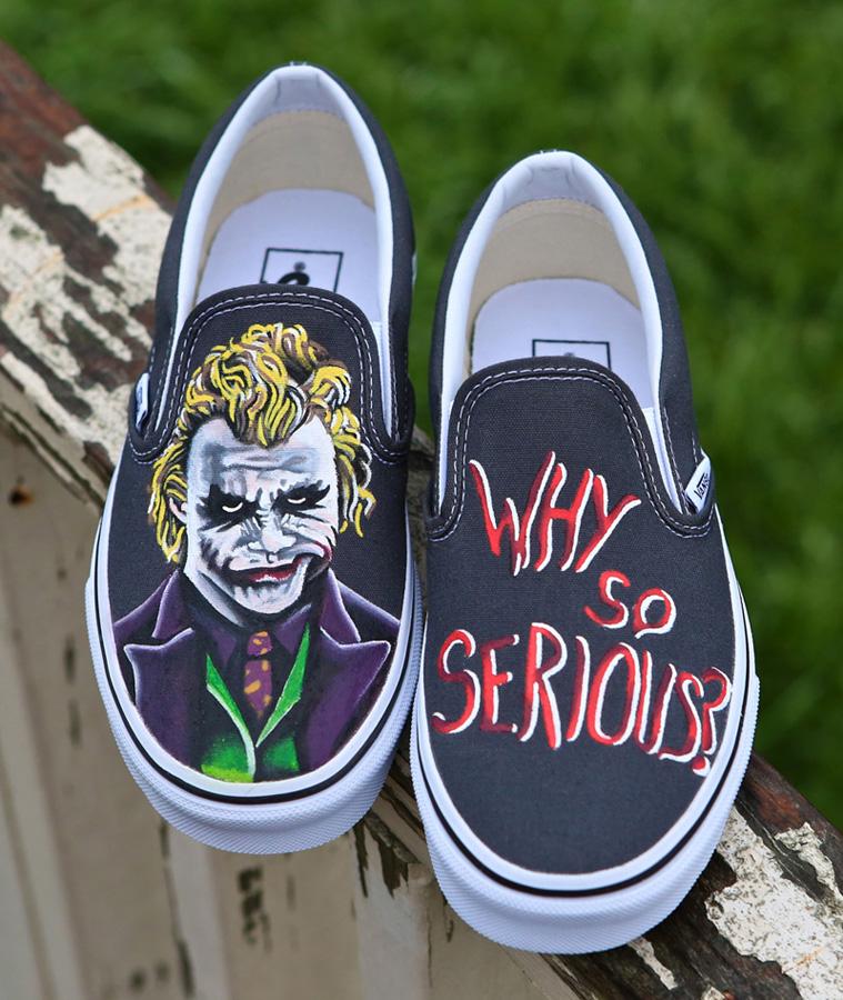 1c9e04b583df Dark Knight Joker Vans by Jlynntaylorart on DeviantArt