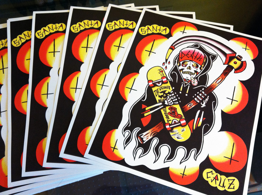 Santa Cruz Skateboard Reaper Prints By Jlynntaylorart On