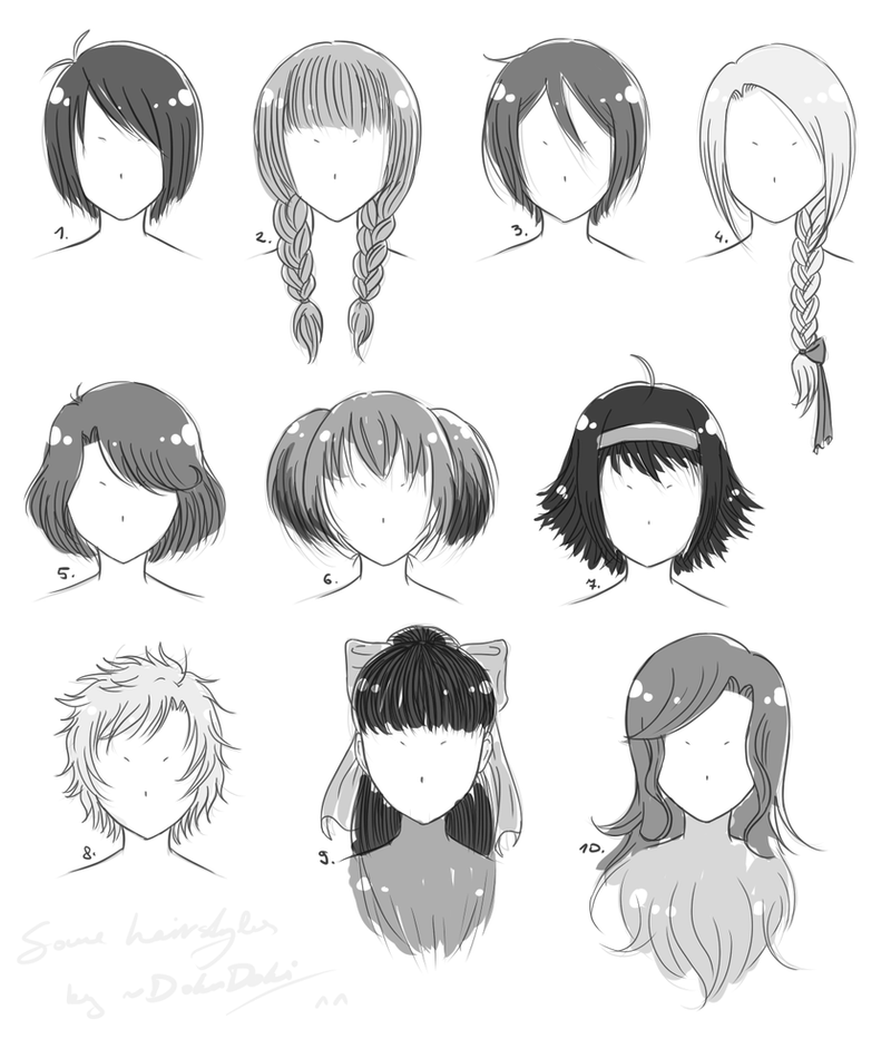 Just Some Hairstyle References by DokuDoki