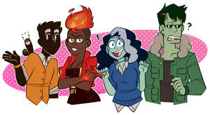 monster prom player characters by aripng