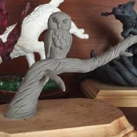 Owl sculpture (WIP)