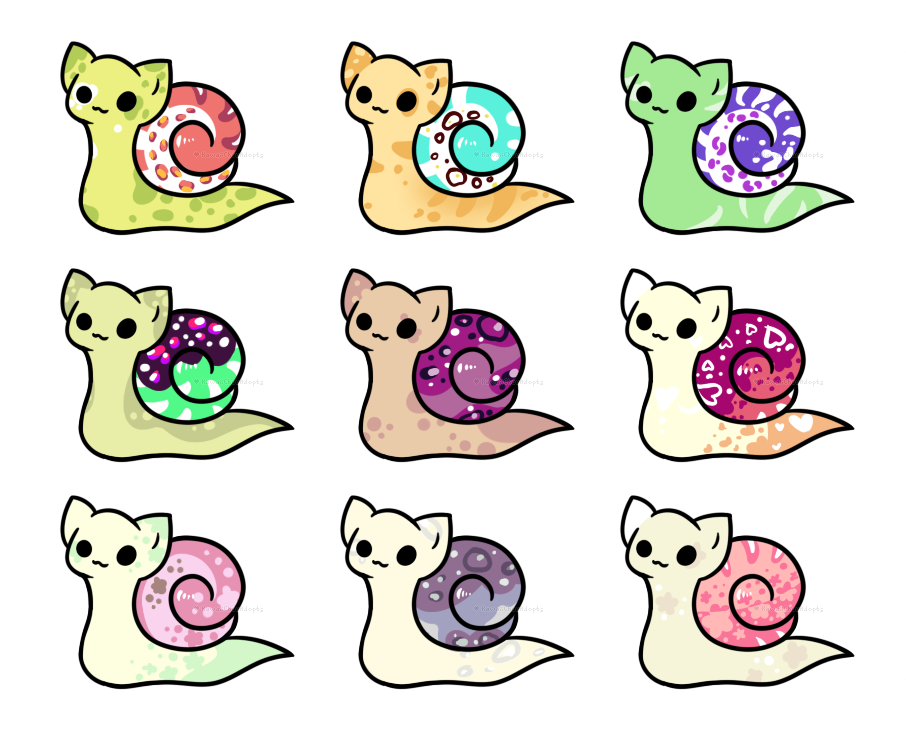 Catsnail Batch #1 - Set Price - Open! by KawaiiChuuAdopts