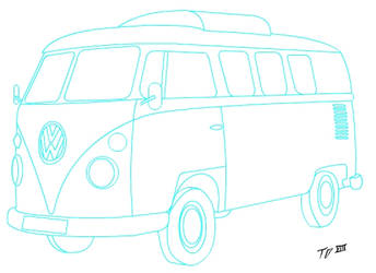 VW Split Outline by frozenhaddockteam