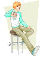 Ichigo with strawberry soda - prize art by Anislayer