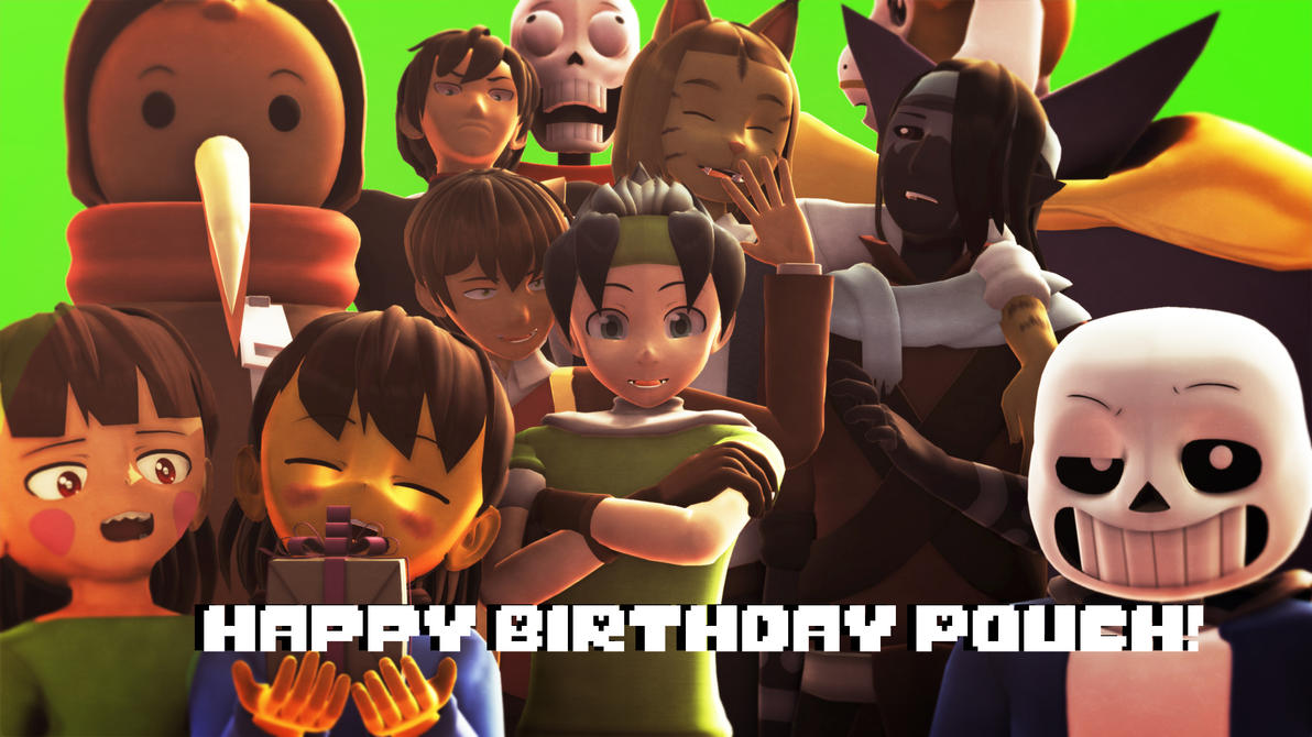 Happy Birthday Pouch!! by RichardDragneel
