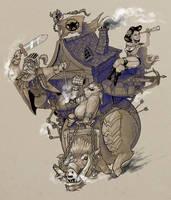 Steampunk Boar by krzyma