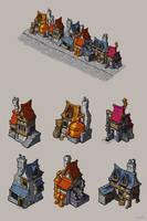Steampunk houses by krzyma