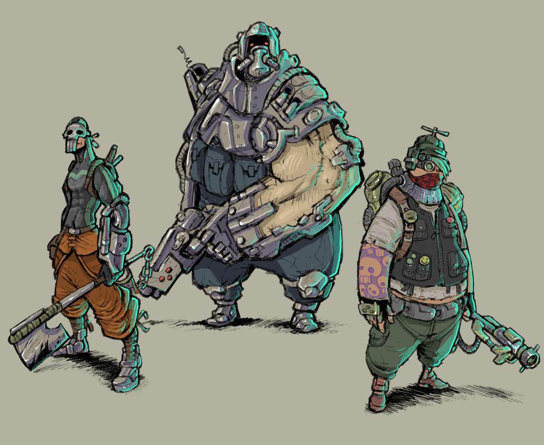 Cyberpunk concepts 2 by krzyma