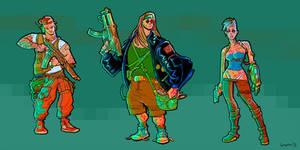 Cyberpunk concepts 3 by krzyma