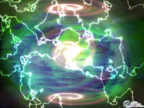 Lightning Vortex Wallpaper