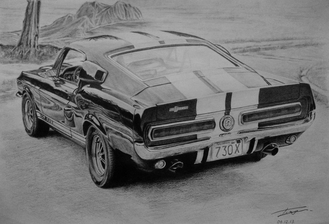 1967 Ford Mustang Drawings Ford Mustang Shelby Gt500 1967