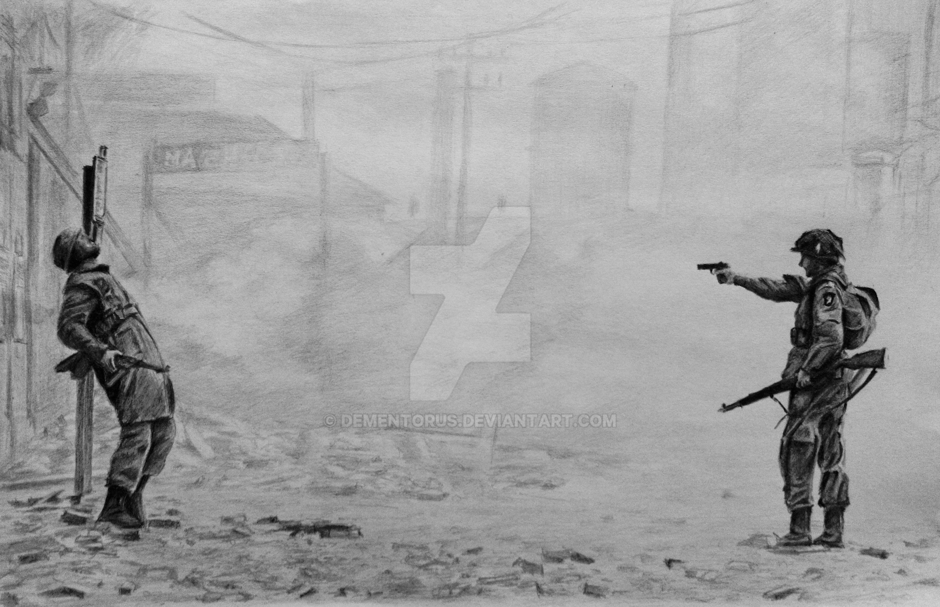 Band of Brothers battle of Carentan by Dementorus