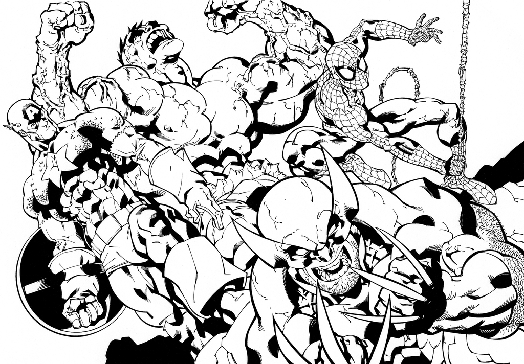 Avengers Christmas Coloring Pages : Avengers semble free colouring pages