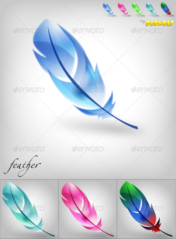 Transparent Feather Icon by BlueX-Design