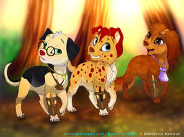 Deathly Hallows puppies by Lover-of-books