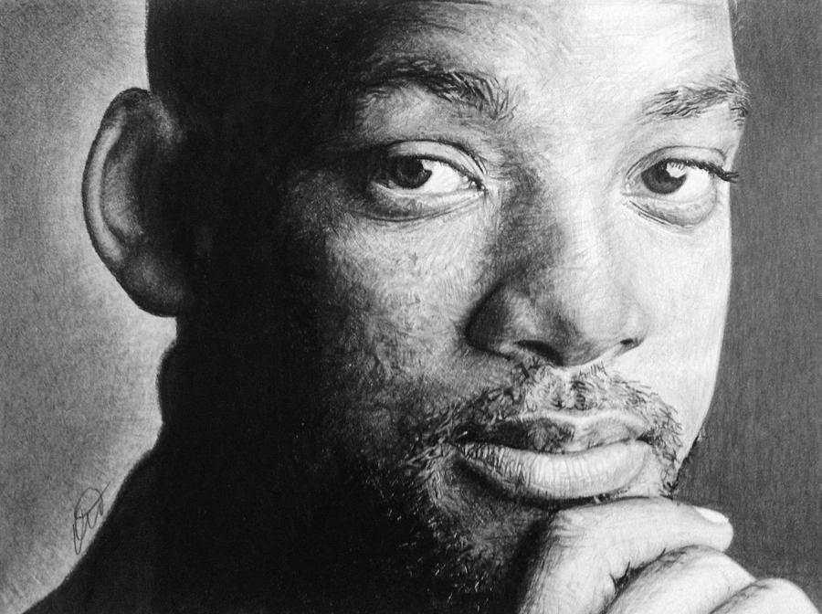 Will Smith Pencil Drawing by derektwilt