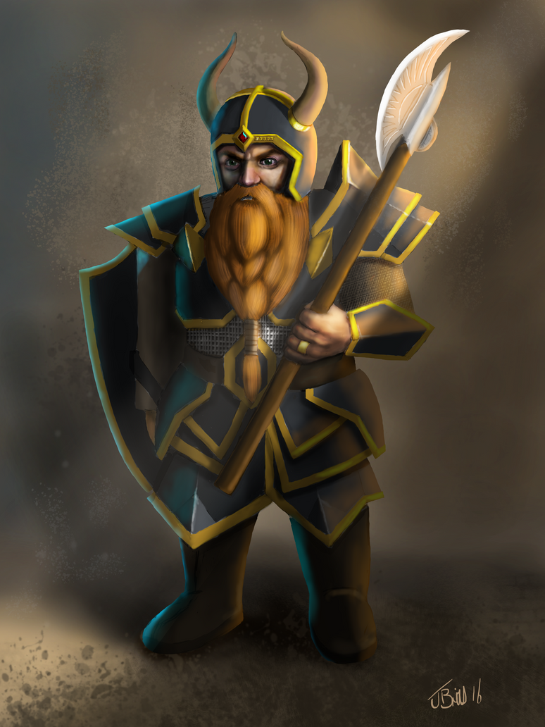 Dwarven Warrior by Britsie1