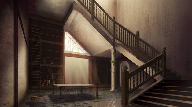 Abandoned Study | Krita Drawing (No 3D rendering)