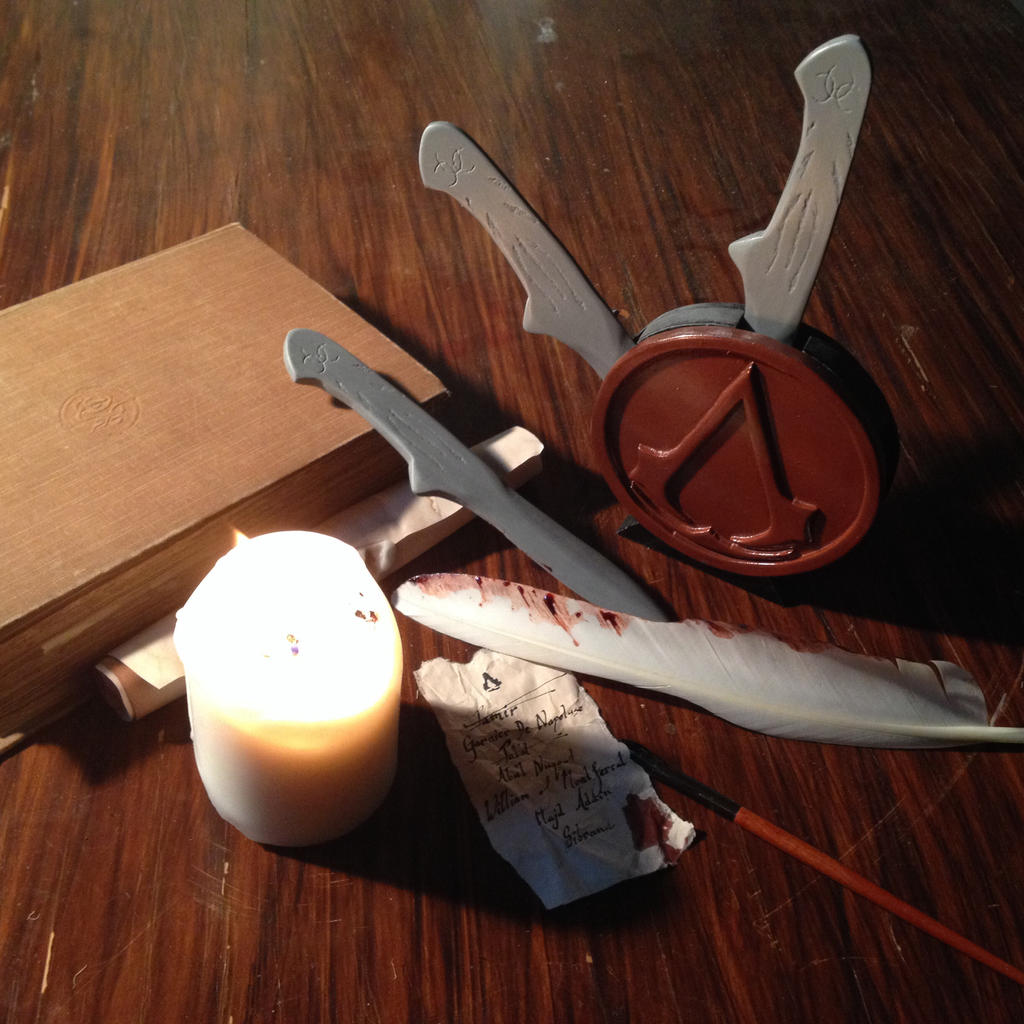 Assassin S Creed Throwing Knives And Display By Death Eats Food On