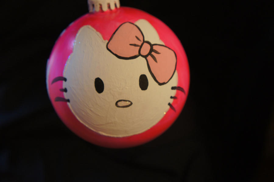 hello kitty hand painted christmas ball by kjaworski on DeviantArt