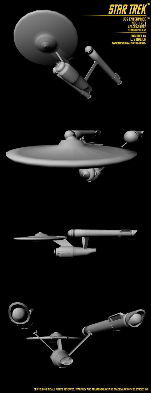 Star trek uss enterprise 3d by solidost on deviantart for 3d star net