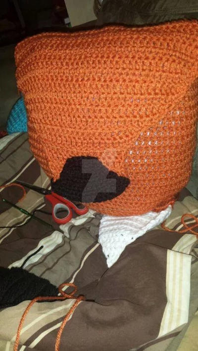 Fox Bag WIP by stitchscraftstore