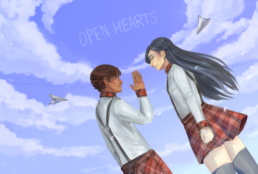 open hearts and open skies by TopHatta