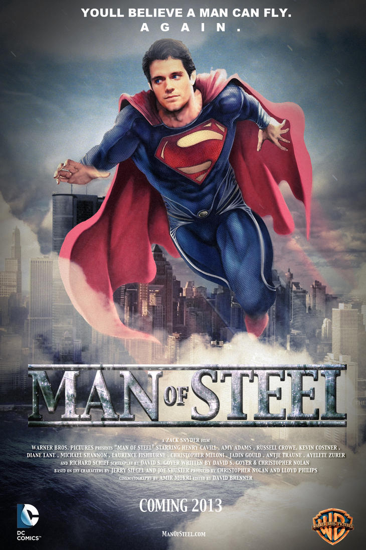 Man Of Steel Poster by SteSmith on DeviantArt