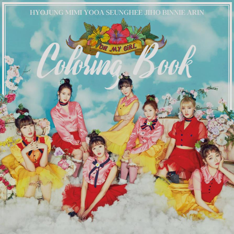 Oh my girl coloring book album cover by lealbum on deviantart Coloring book album cover