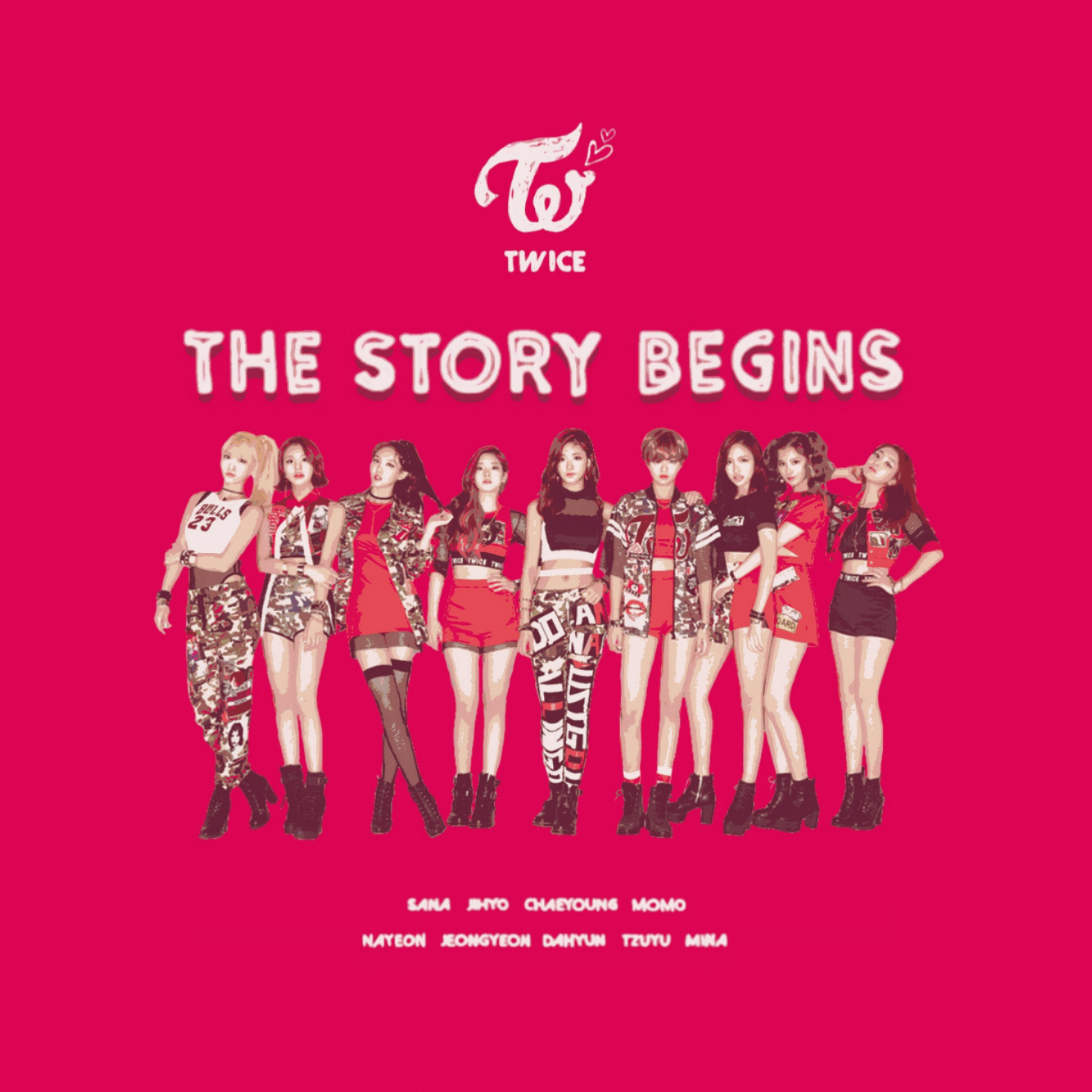Twice Like Ooh Ahh The Story Begins Album Cover By Lealbum On