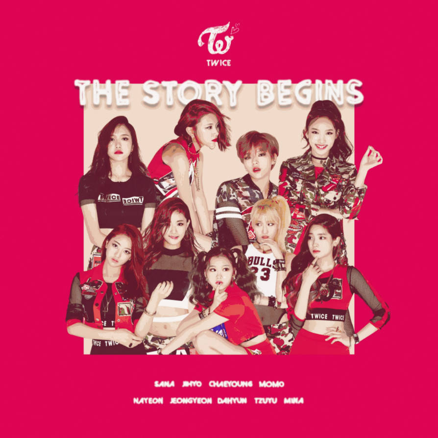 TWICE LIKE OOH-AHH / THE STORY BEGINS album cover by LEAlbum on