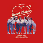 TWICE HEART SHAKER / MERRY AND HAPPY album cover