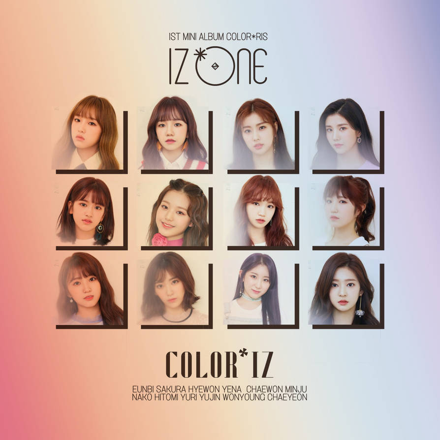 IZONE LA VIE EN ROSE COLORIZ album cover by LEAlbum