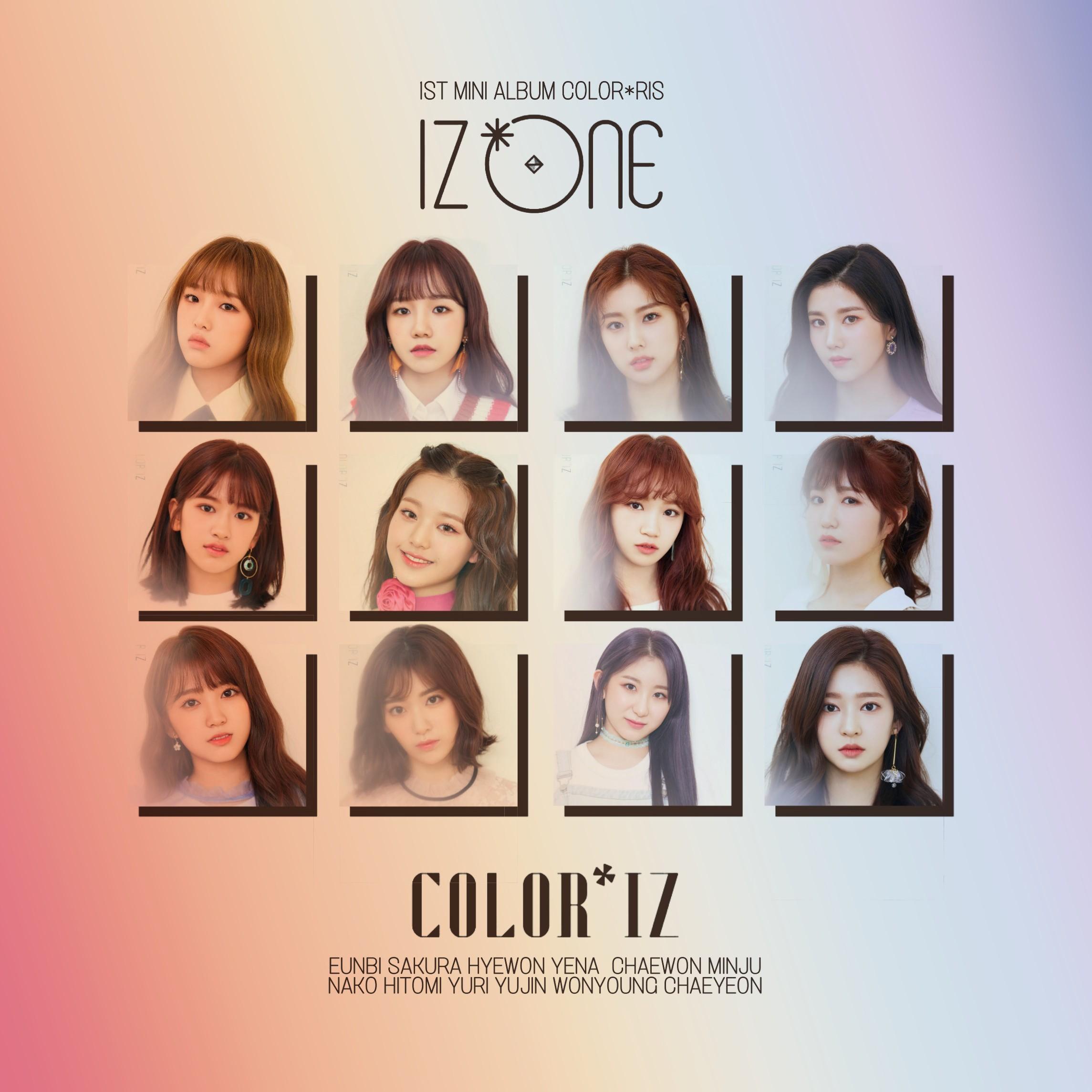 IZ*ONE LA VIE EN ROSE / COLOR*IZ album cover by LEAlbum on