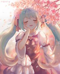 (Miku) Colour of Spring (+speedpaint)