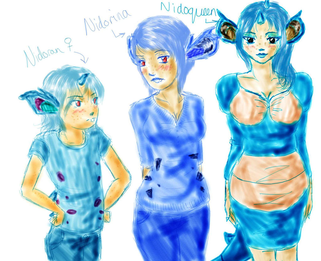 Human Pokemon Nidoran F Nidorina And Nidoqueen 446464217