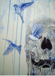 skull and birds 7