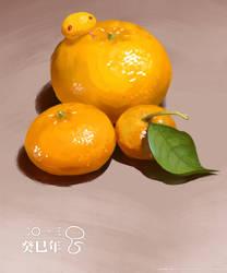 Mandarin snake by Laoism