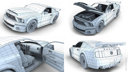 Ford Shelby GT Wireframe